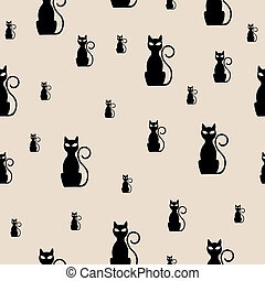 Vector Pattern with Cats