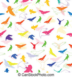 Vector Pattern with Birds