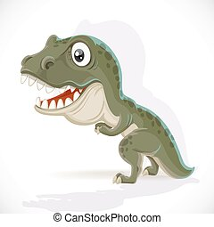 Little Tyrannosaurus isolated on white background