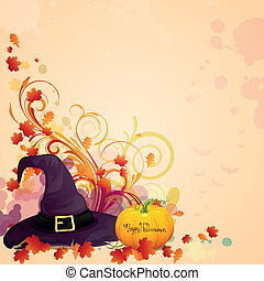 Vector Halloween Background - Vector Illustration of a...