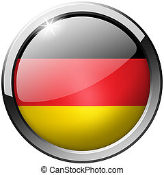 Germany Round Metal Glass Button