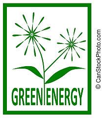 Green energy.  - Green energy design - vector illustration.