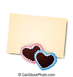 Vector Gingerbread Hearts - Vector Illustration of a...
