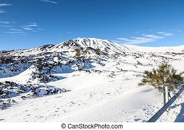 Etna in snow