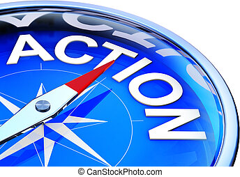 action  - compass with a action icon
