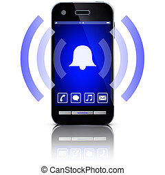 ringing cellphone - 3D illustration of a ringing cellphone