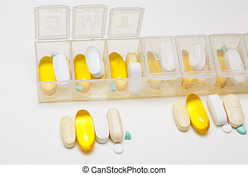 Daily Dosage - Daily dosage of pills going into a pill...