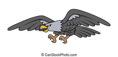 Bald Eagle - Vector Cartoon