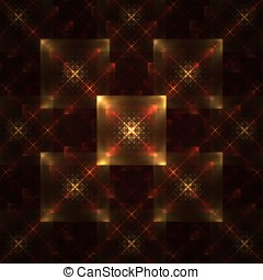Symmetrical Tile Abstract - Woven, layered symmetrical...