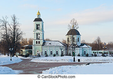 Church in Tsaritsyno - Church of the Life Giving Spring in...