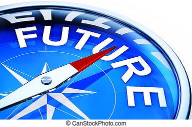 future - compass wit a future icon