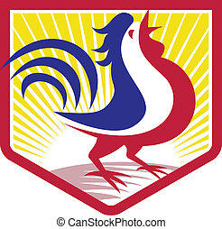 Rooster Cockerel Crowing Crest - Illustration of a rooster...