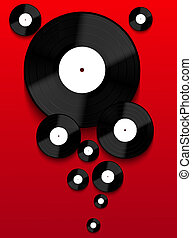 Vector Old vinyl record background. Eps10
