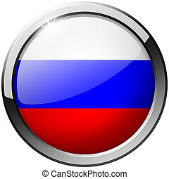 Russia Round Metal Glass Button