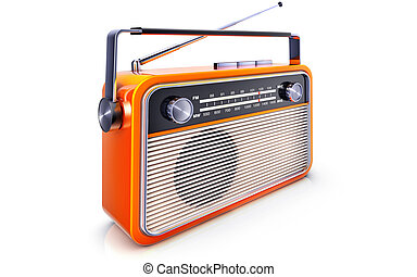 portable radio - high resolution rendering or a radio