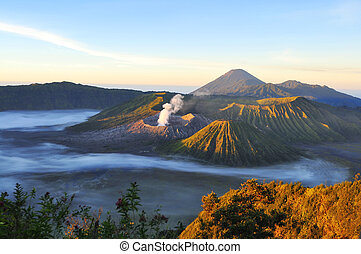 Mount Bromo, Java, Indonesia - the volcano mount Bromo, east...