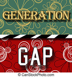Generation Gap - Image with two parts for generation gap