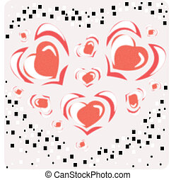 Pattern from hearts
