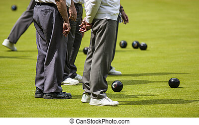 Men Playing Lawn Bowls