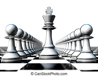 insurance - 3D illustration of a chess concept