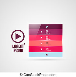 Modern geometrical stripes infographics template