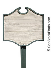 wooden sign - blank wooden street sign