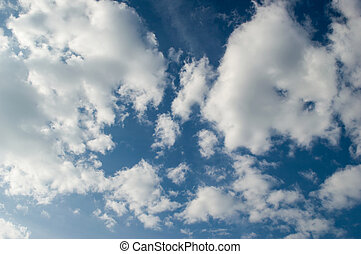 Background with blue sky and clouds 3