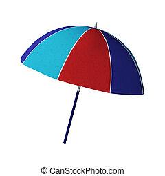 Beach Umbrella - 3D digital render of a colourful beach...