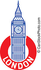 big Ben design big ben label