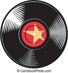 vector vinyl disc record