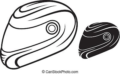motorcycle helmet - vector illustration of motorcycle helmet