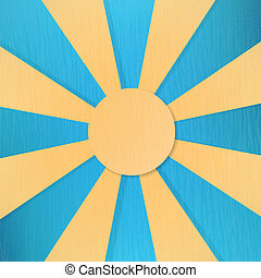 Vector sun symbol on blue background