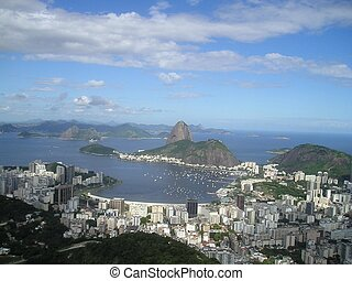 View over Corcovado, Brazil - View over Corcovado bay and...