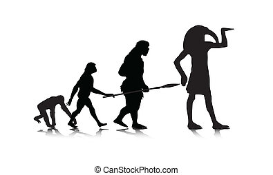 Human Evolution 12 - An abstract vector illustration of...