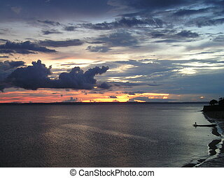 Sunset in Rio Negro, Brazil - Sunset in Rio Negro in Brazil