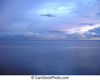 Rio Negro before sunset, Brazil - Rio Negro just before...