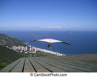 Hang gliding in Rio de Janeiro - Hang gliding over Sao...