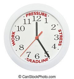 Work deadline stress - Working against the clock concept