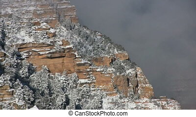 Winter at the Grand Canyon - a snow covered winter landscape...