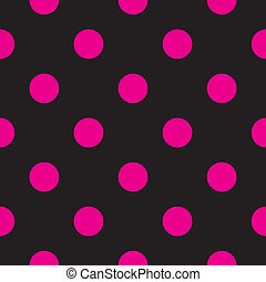 Vector pink dots & black background