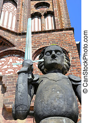 Roland statue in Brandenburg - Roland statue in the city of...