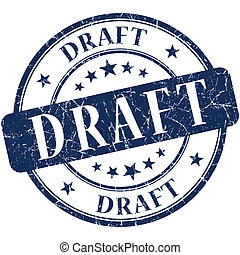 Draft Blue stamp