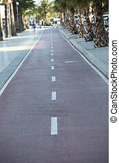 Urban road - Tarred urban road with central markings...