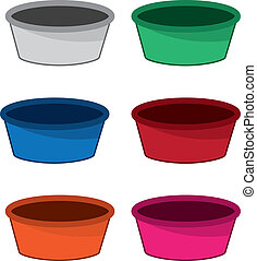 Bowl Colors  - Empty bowl in various colors