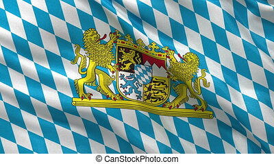 Bavaria flag seamless loop - Seamless loop of the Bavarian...