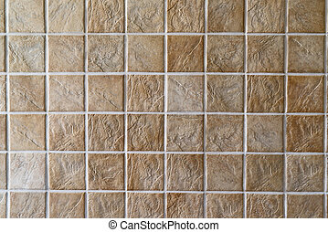 Ceramic tiles. Beige mosaic ceramic tiles for wall or floor.
