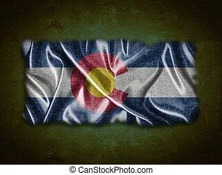 Vintage Colorado flag.