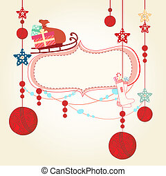 Christmas and New Years Card - Design illustration of a...