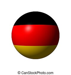 Sphere with flag of Germany