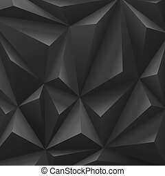 Black carbon background abstract polygon. Fashion luxury.